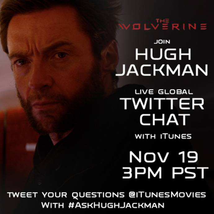 WOLVERINE - Live Global Twitter Chat mit Hugh Jackman am 19. November
