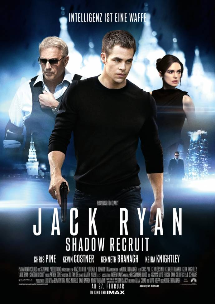 Keira Knightley und Kevin Costner in Action: JACK RYAN SHADOW RECRUIT