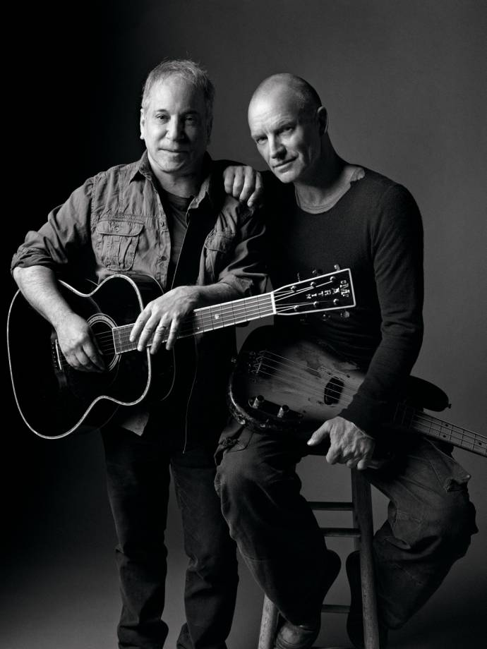 Paul Simon & Sting gemeinsam auf Tour - On Stage Together - Tour 2015          (C)Foto: Mark Seliger