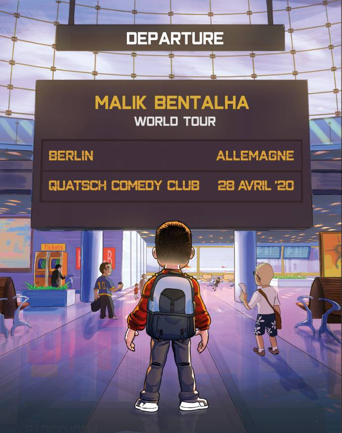 Malik Bentalha - Frankreichs Stand-up-Comedy-Star - 2020 in Berlin
