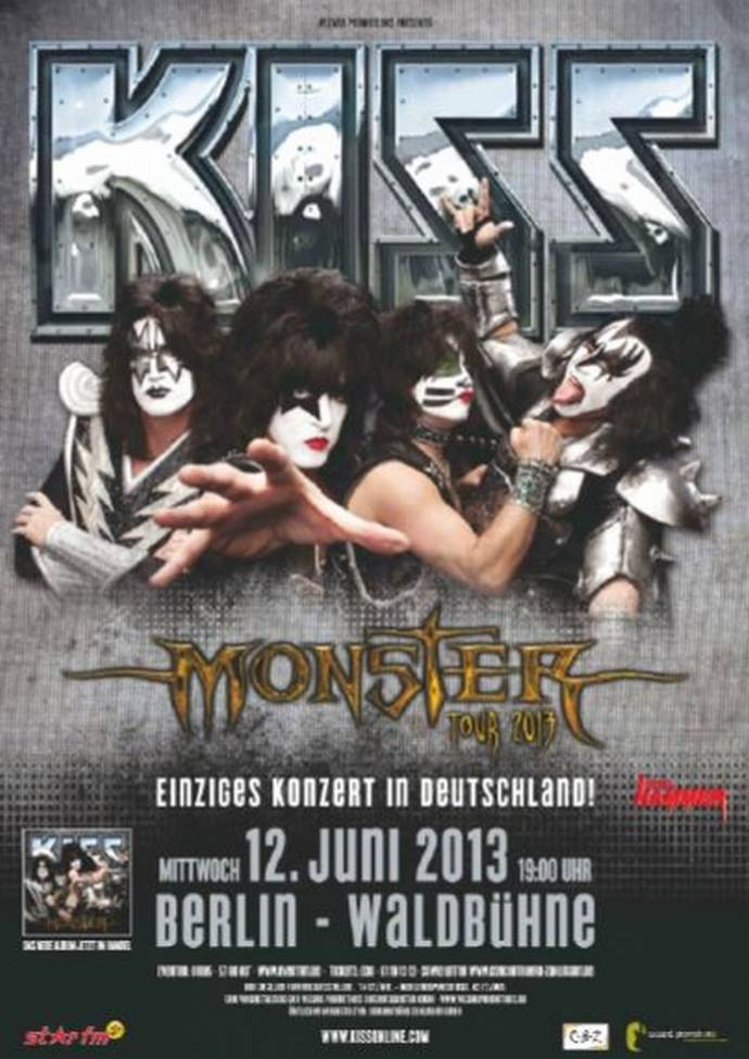 KISS +++MONSTER TOUR 2013+++einziges Konzert in Deutschland am 12.06. in Berlin