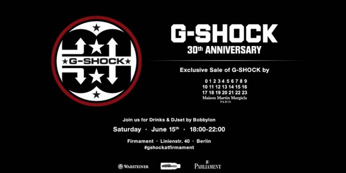 30th Anniversary G-SHOCK@FIRMAMENT - Anniversary Collection und weiteren Collabs
